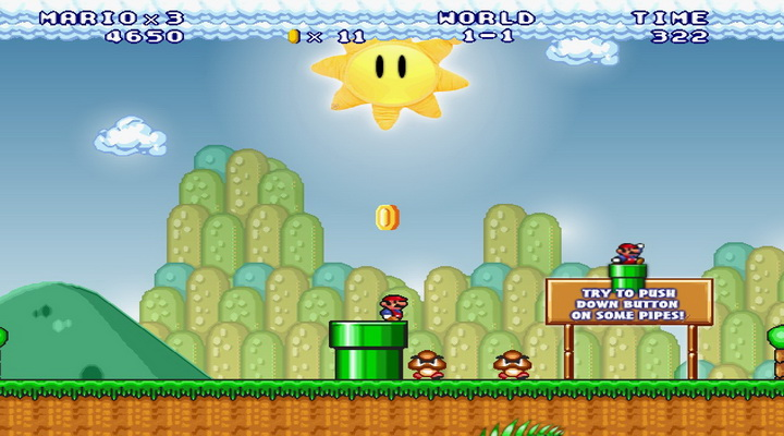 Play super mario crossover 3 hacked if theres a super mario crossover
